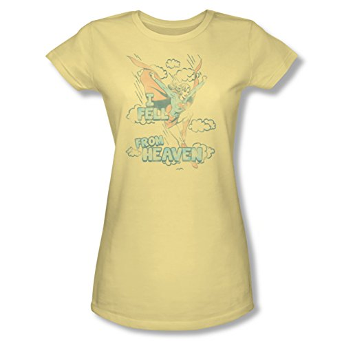 Supergirl I fell from heaven Ladies Junior Fit T-Shirt