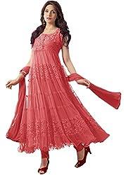 INDIA FASHION SHOP WOMENS ORANGE NET BRASSO DRESS