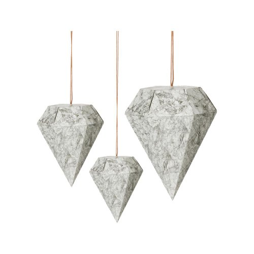ferm Living Paper Diamonds marble 3er Set Art.24114