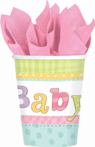 Cuddly Clothesline 9 oz. Paper Cups