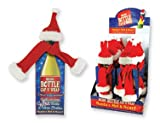 CHRISTMAS Wine Bottle Cap N' Wrap Santa's Hat & Scarf ~ 3pk ~ Deck Out your Wine Bottle in True Holiday Style ~ Fun Christmas Gift ~ Secret Santa ~ Party Office Housewarming ~ Party Decor ~ Toast the Holidays