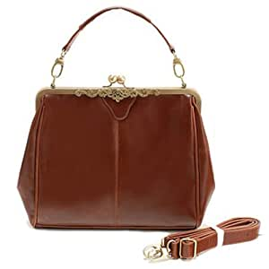 Eforlife Brown Retro Vintage Lady Pu Leather Shoulder Handbag Satchel Tote Bag Purse Fashion
