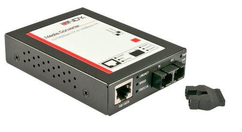 Lindy 25090 Convertisseur optique 10/100Base-Tx <-> 100Base-FX SC Multi-Mode