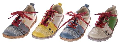 Damen Leder Halb Schuhe Sneakers Weiß Blau Schwarz Gelb Grün Used Look Comfort Turnschuhe TMA Eyes