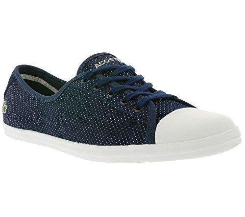 Lacoste Women's Women's Low-Rise Sneakers Ziane 116 1 In Canvas In Size 38 Blue