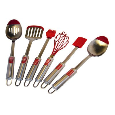 Kitchen Elements Stainless Steel Silicone Tip 6-Piece Utensil Set