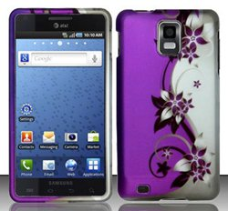 Samsung Infuse 4G i997 (AT&T) Purple/Silver Vines Design Hard Case Snap On Protector Cover + Stylus Pen + Screen Protector + Black Pouch + Free Opening Tool + Free Animal Rubber Band Bracelet (Samsung Infuse 4g Phone compare prices)