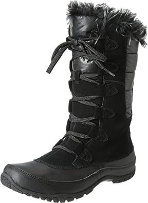 The North Face Nuptse Purna Boot - Women's Shiny TNF Black/TNF Black, 6.5