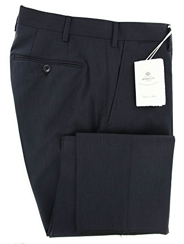new-luigi-borrelli-navy-blue-solid-pants-extra-slim-44-60