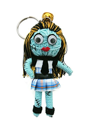 Frankie Stein Monster High Students Voodoo String Doll Keychain Keyring