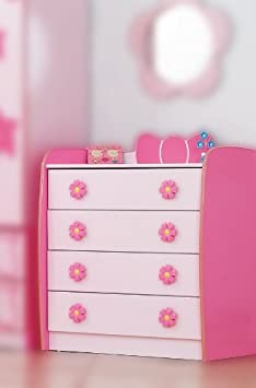 prinzessin kommode pink rosa m dchen schrank mit schubladen da489. Black Bedroom Furniture Sets. Home Design Ideas