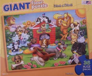 Cheap Great American Dog House – 36 Pieces Floor Puzzle (B001JGF4FA)