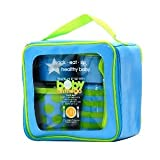 Baby on the Go Travel Feeding Set By Elegant Baby (Blue/Green)
