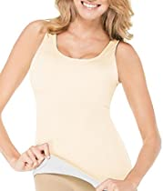 ASSETS Red Hot Label by SPANX Flipside Firmers Extra Firm Control Tank, M, Very Bare / Black