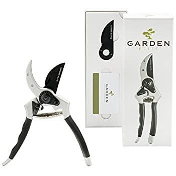 Razor Sharp Bypass Pruning Shears/Secateur - Japanese Steel - FREE Extra Blade, Spring & eBook - Hassle Free Warranty - Premium Hand Pruner/Gardening Shear/Garden Clippers with Ergonomic Handle