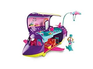 Polly Pocket Adventure Jet, 20+ pieces, Ages 4+