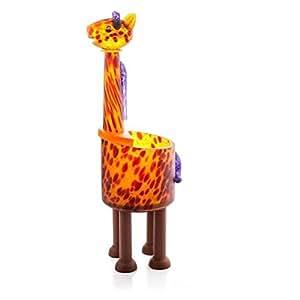 Amazon.com: Oggetti Hand Blown Glass Sculpture Amber Giraffe Vase Home