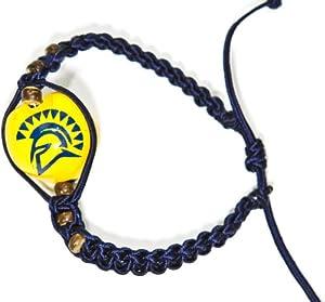 Buy NCAA San Jose State Spartans Go Nuts Kukui Nut Macrame Bracelet by Style Pasifika