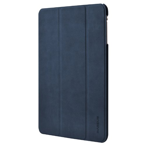 BASEUS Apple iPad mini Grace Leather Case Simplism Series 【 アップル Softbank ソフトバンク au アイパッド ミニ 対応 グレース レザー スマートフォン タブレット タブ ノート カバー ケース シンプリズム シリーズ 】 Blue ブルー 青 LTAPMINI-03