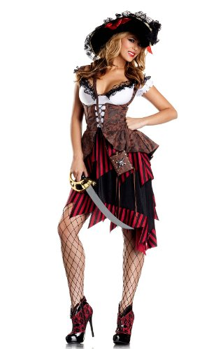 Be Wicked BW1284, 3 Piece set Hot Hooligan Costume.