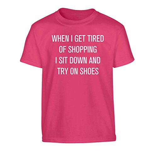 When I get tired of shopping I sit down and try on shoes Children's T-Shirt A...