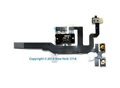Iphone 4S Headphone Jack And Volume Control Flex Cable (White)-Ny1718