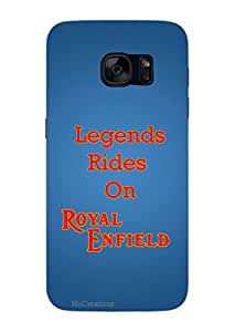MiiCreations 3D Printed Back Cover for Samsung Galaxy S7,Legends Rides On Royal Enfield