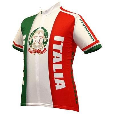 Image of World Jersey's Italia Team Short Sleeve Cycling Jersey (B004M66NZ4)