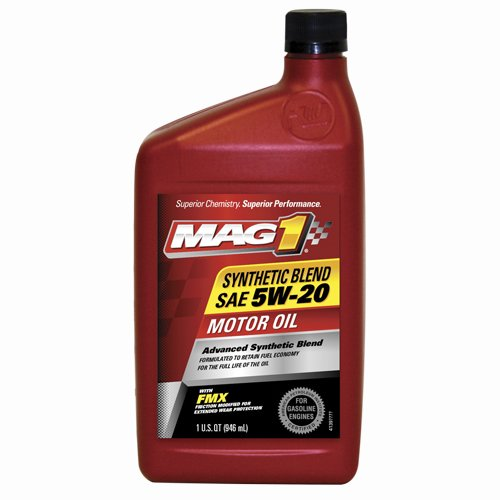 Mag 1 300 Sae 5w 20 Synthetic Blend Motor Oil 1 Quart Bottle Case Of 6 Compare Price Benches