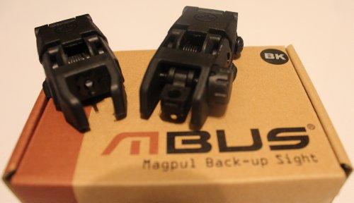 Find Bargain Magpul PTS MBUS Front & Rear Back-Up Sight Set Black Color Polymer