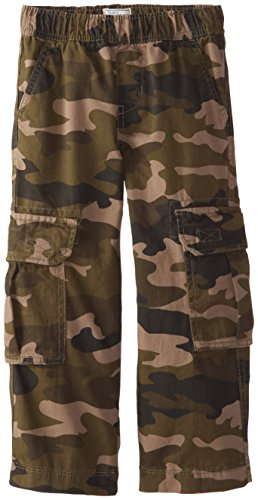 The Children's Place Little Boys' Pull-On Cargo Pant, Olive Camo, 4 (Camouflage Clothing For Kids compare prices)
