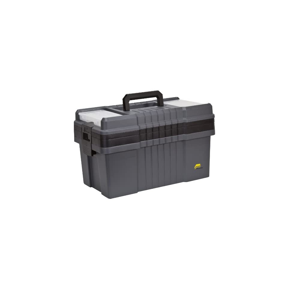 Plano 823 003 Contractor Grade Po Series 22 Inch Tool Box, Graphite Gray with Black Handles and Latches