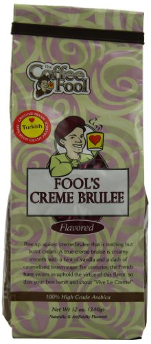 The Coffee Fool Turkish (Powder) Coffee, Fool'S Creme Brulee, 12 Ounce