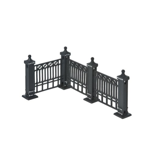 Black Fence Accessory Set of 7 Separate Pieces