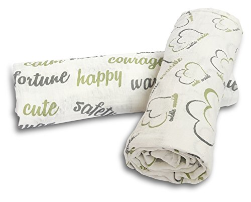 Muslin Swaddle Blanket 2 Pack, 100% Cotton, Large Sized 47