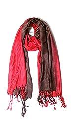 Anuze Fashions Tie Dye Red Leopard Design Stole