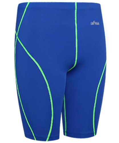 Emfraa Men Women Blue Skin Compression Base Layer Running Tight Shorts S ~ XXL