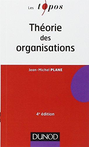 Théorie des organisations - 4ème édition