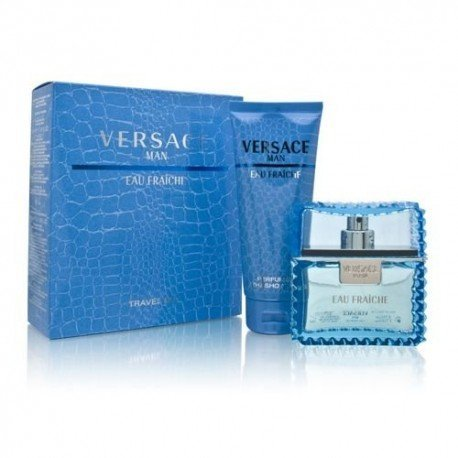 Versace, Set da regalo per uomo, Incl. Eau Fraîche (100 ml) e Bagnoschiuma (100 ml)