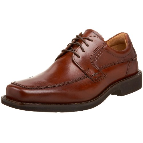 ECCO Men's Seattle Apron Toe Tie Oxford,Cognac,46 EU (US Men's 12-12.5 M)