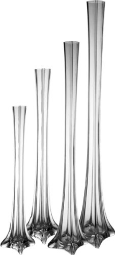 "Tower Vase, H-16"" (48 pcs)"