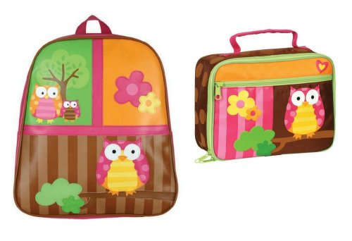 Stephen Joseph Go Go Backpack And Classic Lunchbox Set, Owl front-970321