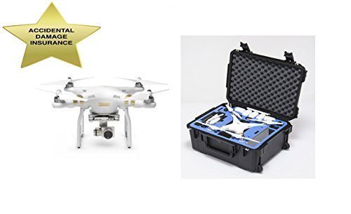 DJI Phantom 3 Professional with 2 Year Accidental Damage Insurance and Go Professional Wheeled Hard Case Drone Source Bundle