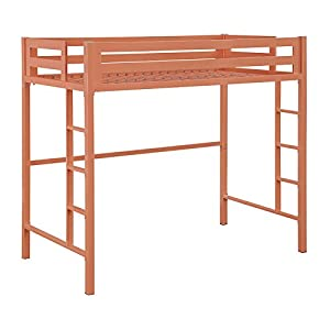 WE Furniture Murdock Metal Loft Bed, Twin, Mint