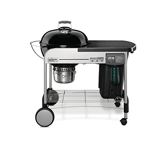 Weber 15501001 Performer Deluxe Charcoal Grill, 22-Inch, Black (22 Inch Weber Grill compare prices)