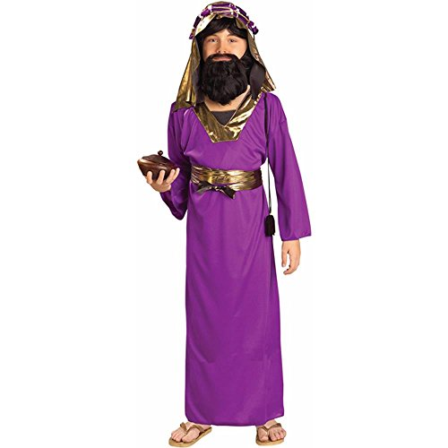 Kid's Purple Wiseman Biblical Costume (Large)