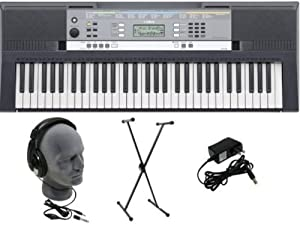 Yamaha YPT-240 Keyboard Pack come with, Power Supply (Adapter), and Stand