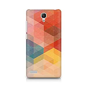 Ebby Geometric Hues of Red Premium Printed Case For Xiaomi Redmi Note