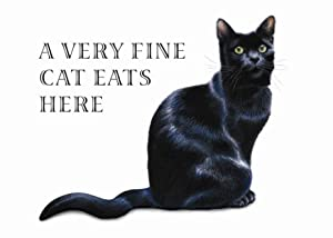 A Very Fine Cat Eats Here Standard Plastic Placemat