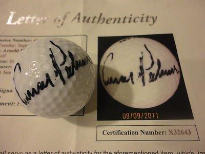 Arnold Palmer Loa Autograph Signed 1992 Pga Seniors Championship Golf Ball - JSA Certified - Autographed Golf Balls